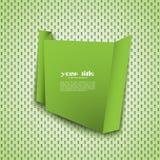 Drapeau vert d'origami Images libres de droits