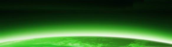 Drapeau vert de globe du monde Photos stock