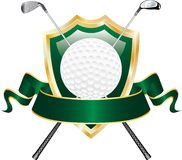 Drapeau vert de golf Photos libres de droits