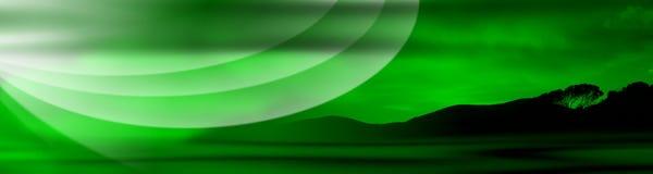 Drapeau vert de la Toscane Photographie stock libre de droits