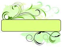 Drapeau vert floral Image libre de droits