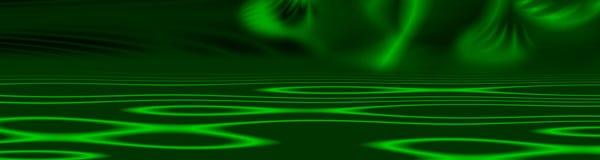 Drapeau vert-foncé Image libre de droits