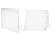 Drapeau vide - une lame blanc de papier Photographie stock libre de droits
