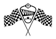 Drapeaux à carreaux de course de vecteur illustration de vecteur