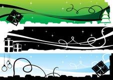 Drapeaux 1 de Noël Image libre de droits