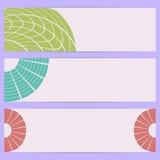 Drapeaux abstraits. Images stock