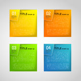 Drapeaux abstraits Image libre de droits