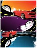 Drapeaux abstraits illustration stock