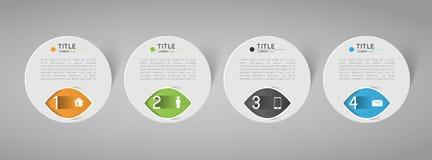 Drapeaux abstraits de cercle Photographie stock libre de droits