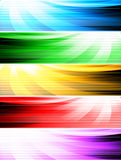Drapeaux abstraits de type Images libres de droits