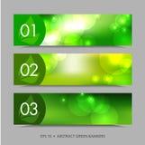 Drapeaux abstraits de vecteur Image libre de droits