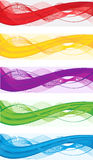 Drapeaux abstraits pour l'en-tête de Web Images stock