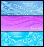 Drapeaux abstraits réglés Photos libres de droits