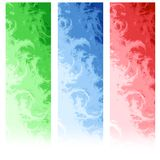 Drapeaux abstraits verticaux de Web Photo libre de droits