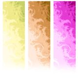 Drapeaux abstraits verticaux de Web Images stock