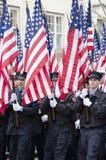 343 drapeaux américains Photos libres de droits