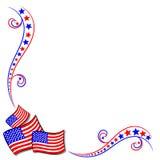 Drapeaux américains et étoiles Photographie stock libre de droits