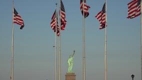 Drapeaux américains, Etats-Unis, 4ème de juillet banque de vidéos