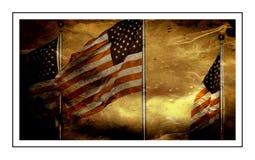 Drapeaux américains ou drapeaux des Etats-Unis Photographie stock