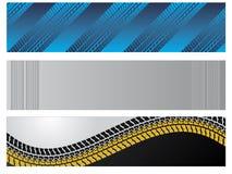 Drapeaux avec des pistes de pneu Photo stock