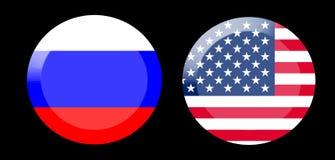 Drapeaux avec des relations de pays photo stock