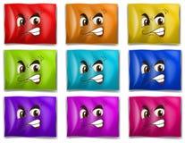 Drapeaux avec des visages Photo stock