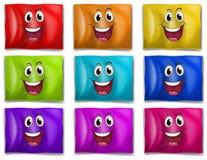 Drapeaux avec les visages de sourire Photos libres de droits