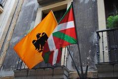 Drapeaux Basques Photographie stock libre de droits