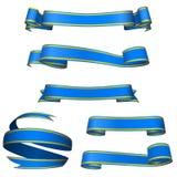 Drapeaux bleus Photographie stock libre de droits