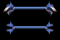 Drapeaux bleus Image libre de droits