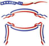 Drapeaux bleus blancs rouges patriotiques illustration libre de droits