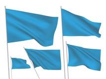 Drapeaux bleus de vecteur Photographie stock libre de droits