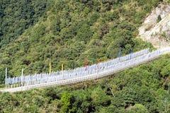 Drapeaux bouddhistes de prière - Bhutan images libres de droits