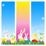 Drapeaux, carte ou affiche de Pâques Photographie stock