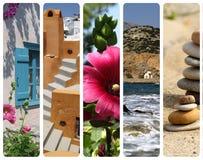 Drapeaux - collage de la Grèce Image libre de droits