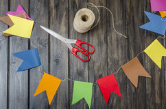 Drapeaux colorés Photos libres de droits