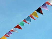 Drapeaux colorés Images stock