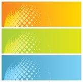 Drapeaux colorés abstraits Images stock
