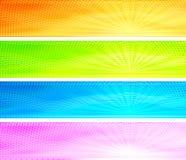 Drapeaux colorés abstraits de fond de lever de soleil Photographie stock libre de droits