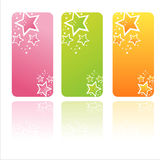 Drapeaux colorés d'étoiles Photo stock