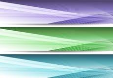 Drapeaux colorés d'affaires Photographie stock