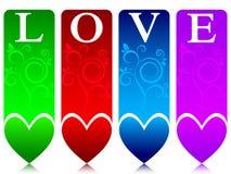 Drapeaux colorés d'amour Photographie stock