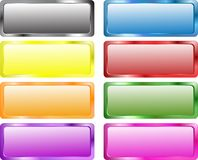 Drapeaux colorés de rectangle Images libres de droits