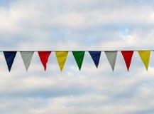 Drapeaux colorés de vintage Image stock