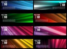 Drapeaux colorés de Web illustration libre de droits