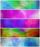 Drapeaux colorés grunges abstraits Photos stock