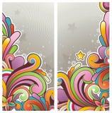 Drapeaux colorés modernes Photographie stock libre de droits