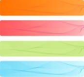 Drapeaux colorés réglés avec la conception abstraite Photos libres de droits