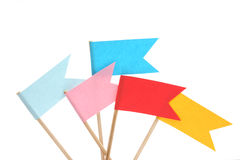 Drapeaux colorés sur le fond blanc Photo stock