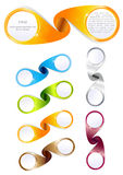 Drapeaux colorés tordus par vecteur Images stock